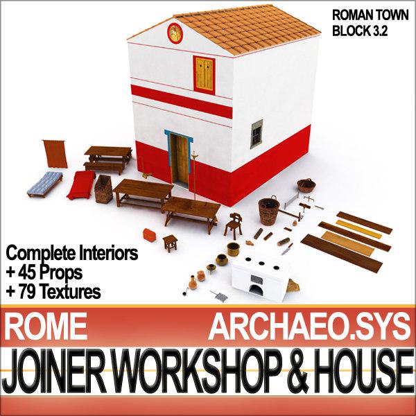 ancient rome joiner workshop 3d 3ds