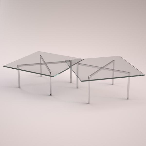 table barcelona 3d model