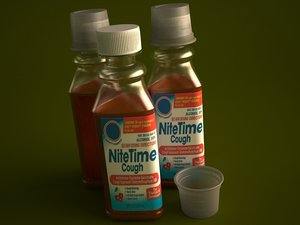cold medicine bottle 354ml 3d model