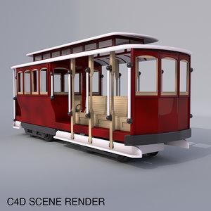 c4d cable car