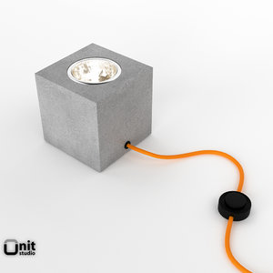 free q floor light concrete 3d model