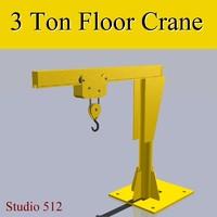 3 Ton Floor Crane
