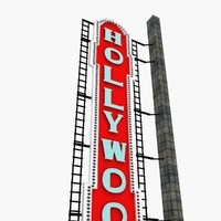 3d hollwood sign theatre portland model