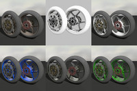 motorcycle wheel tire 3d max