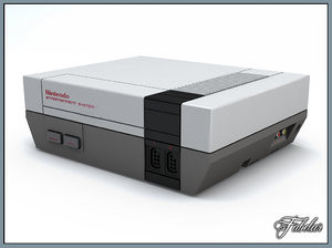 nintendo nes console 3d model