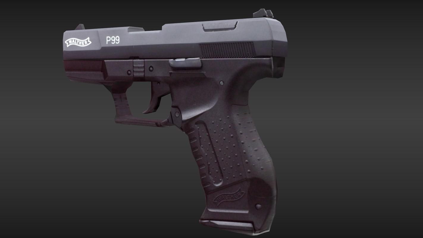 3ds max pistol p99