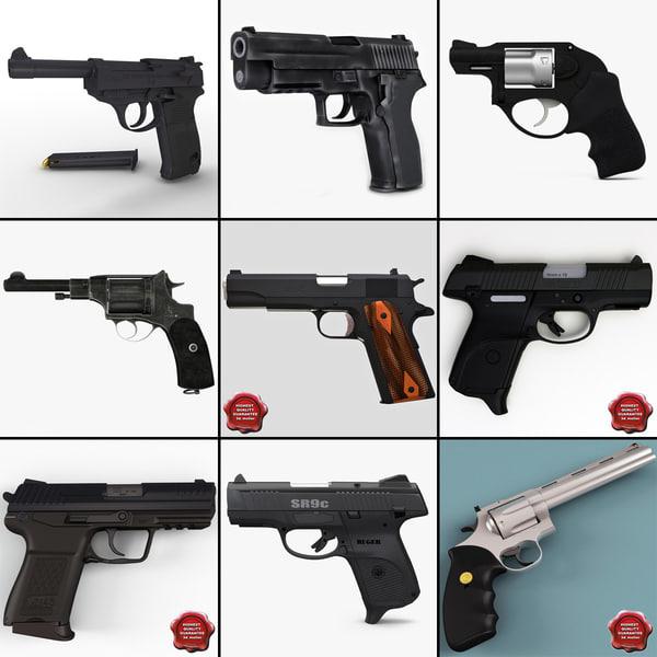 3d model pistols 7