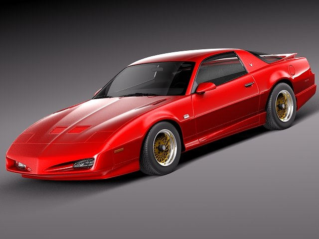 pontiac firebird trans 1991 3d model
