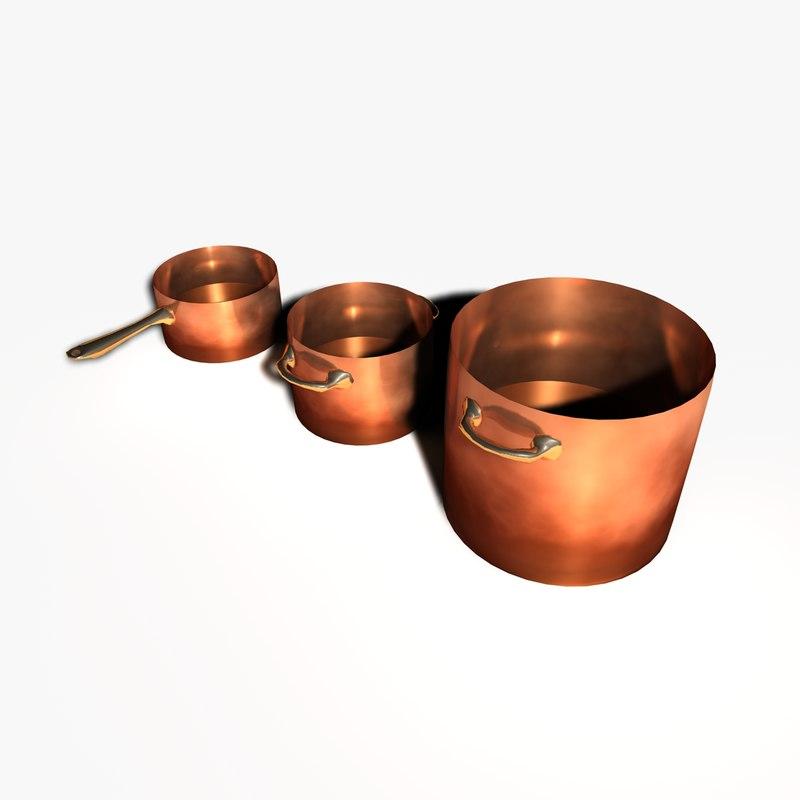 3d model pots pans