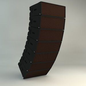 c4d martin line array speaker