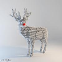 Pixel Reindeer