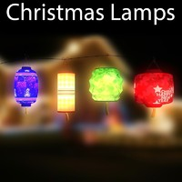 3d christmas lamps
