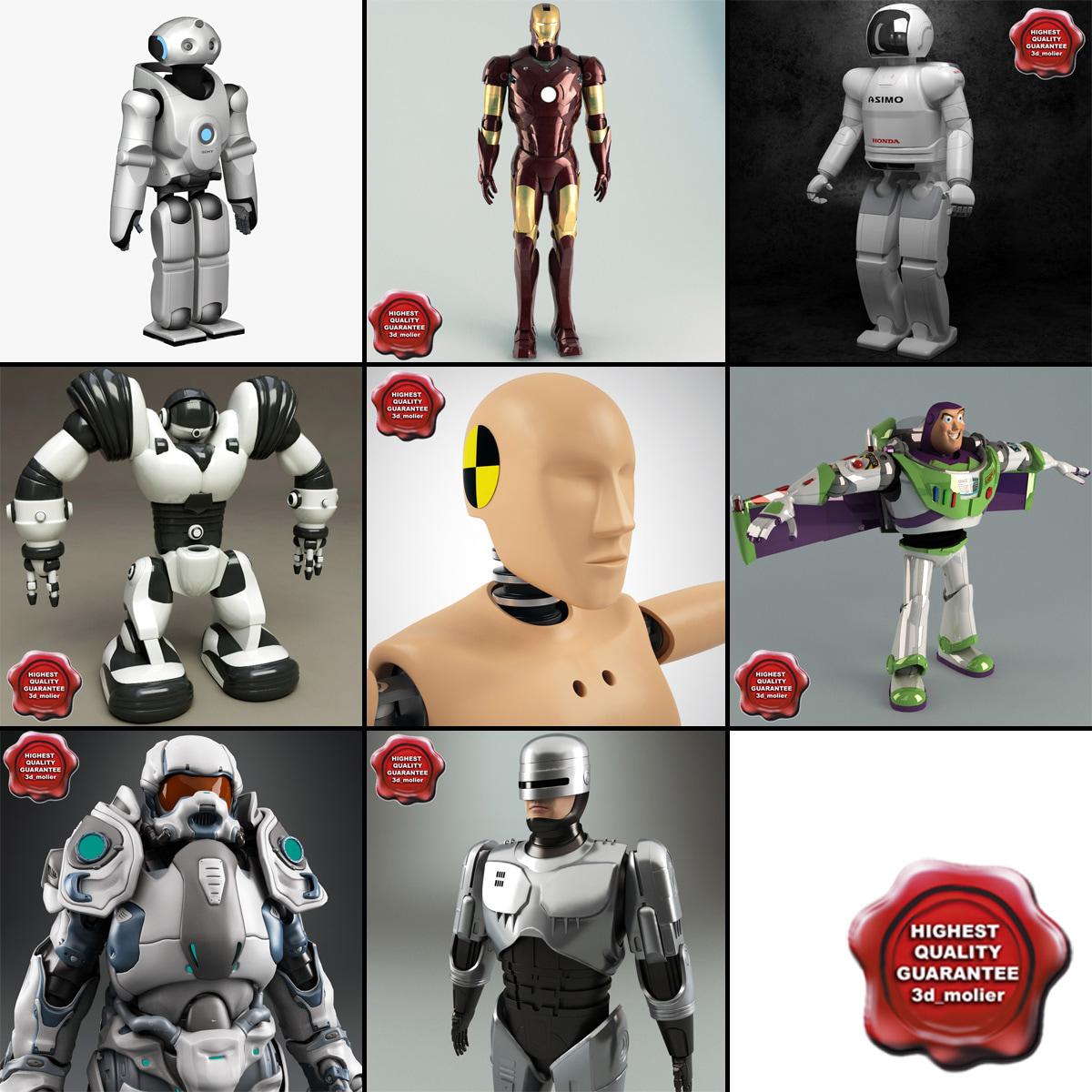 3d model robots 6