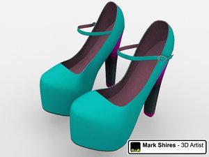 3d heel shoes model