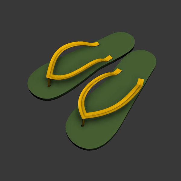 free flip flop 3d model