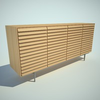 3d 3ds sussex tall credenza