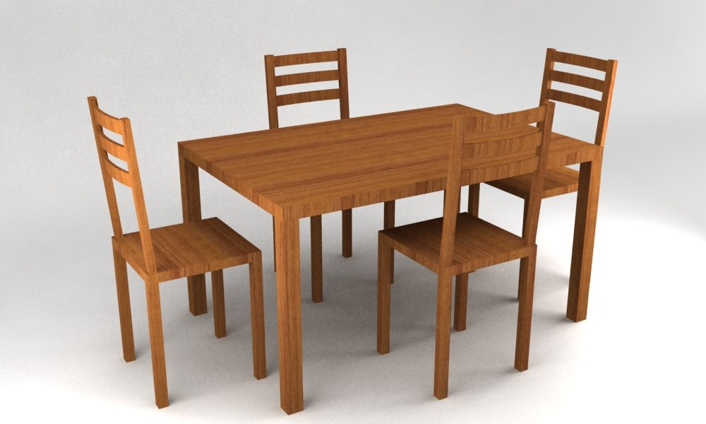 Table 3d model for Table 52 2014