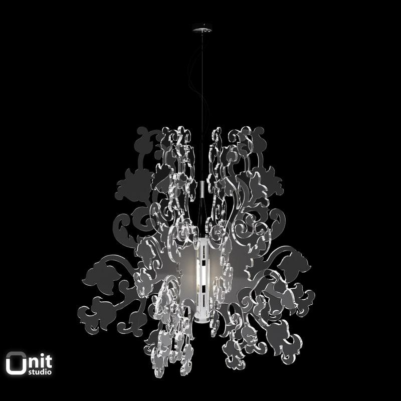 materials anastacha suspension lamp 3d 3ds