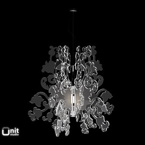 materials anastacha suspension lamp 3d 3ds