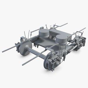 3dsmax train wheels
