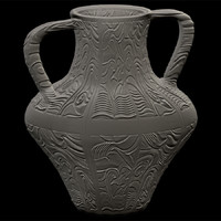 decorative vase 3d obj