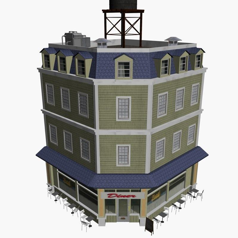 3d diner model