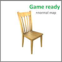 3d model normal chair