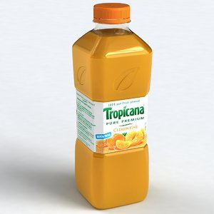 3dsmax tropicana bottle