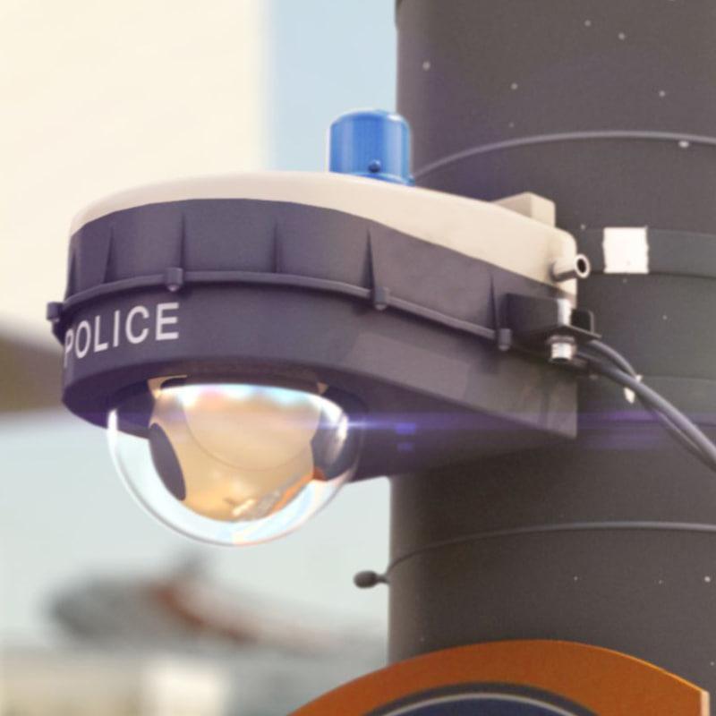 police camera 3d obj