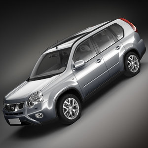 nissan x-trail 3d model