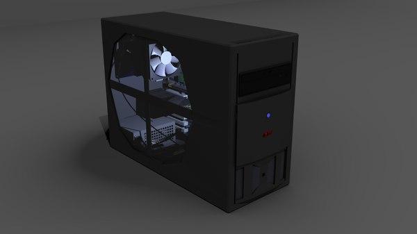 3d model computer cpu fan