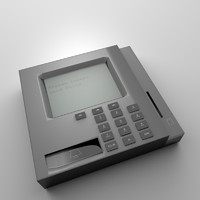 3d credit card reader model