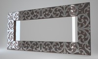 Devon&Devon Mirror Maine Silver