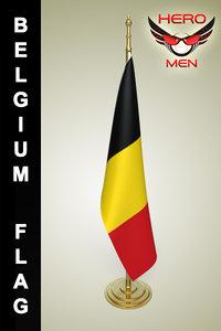 3d belgium flag