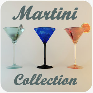 3d martini olives