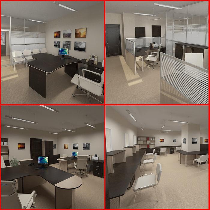 office design furniture 3d model