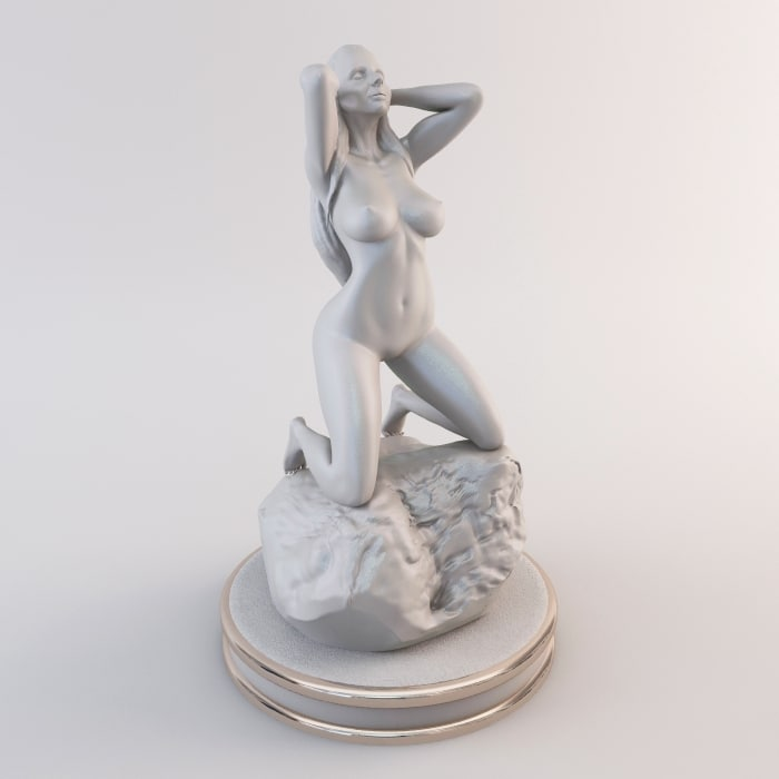 3d female figurine art