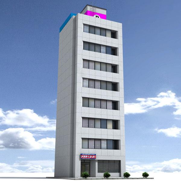 lightwave japan building rendering