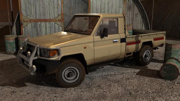 3d land cruiser pickup model