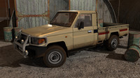 3d land cruiser pickup model