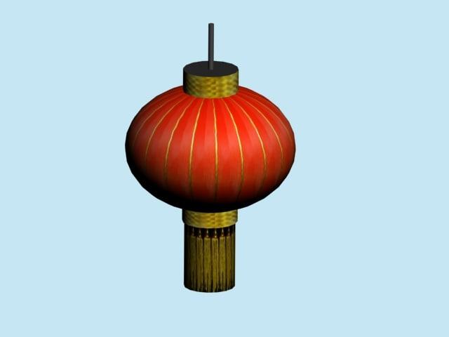 3d lantern chinese model