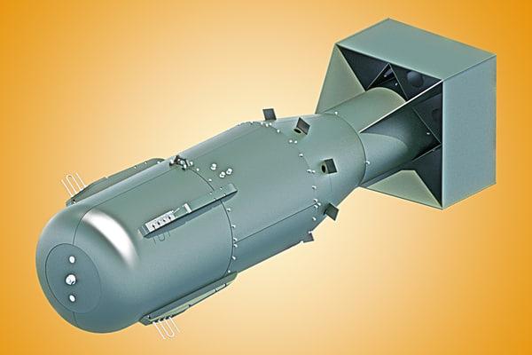3d little boy atomic bomb model