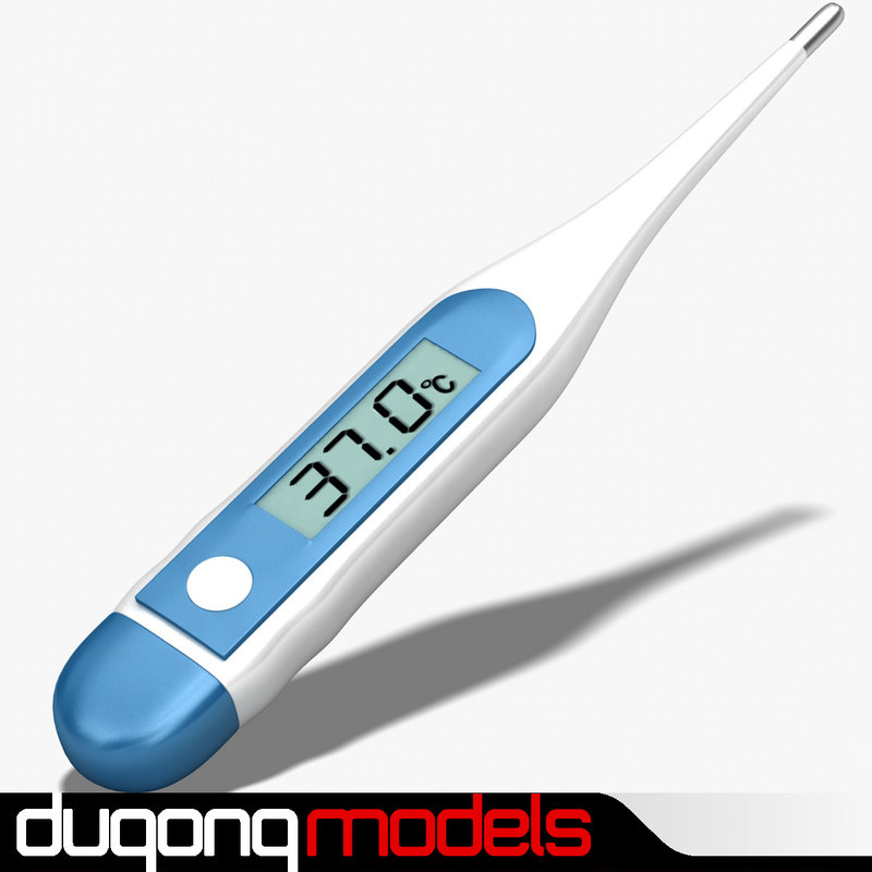 3d model dugm04 digital oral thermometer