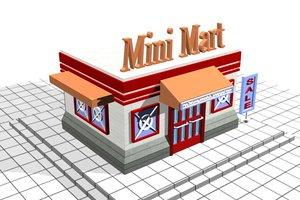 3d model of mini mart