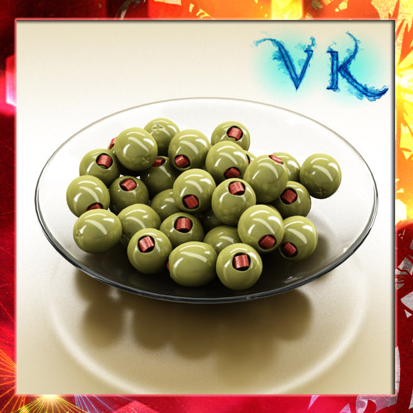 3d photorealistic olives