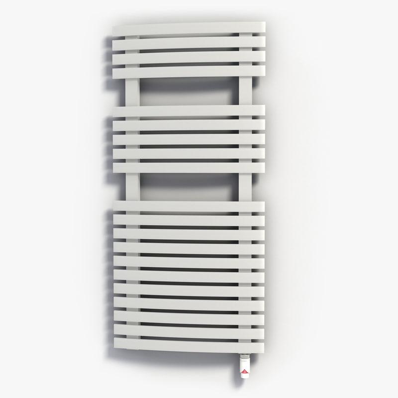 3d model modern design bathroom heater