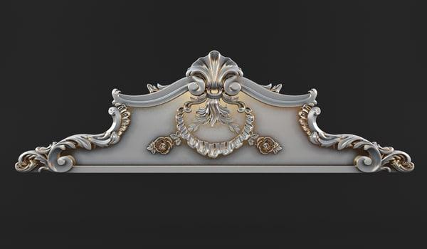 3d max carved crown