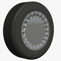 3dsmax wheel rim sedan
