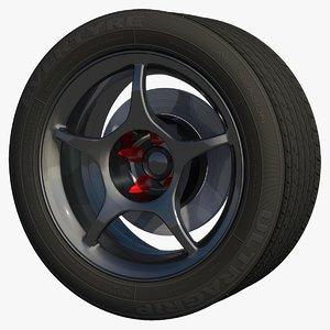 3d model wheel rim sport