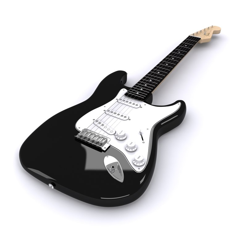 stratocaster 3d 3ds